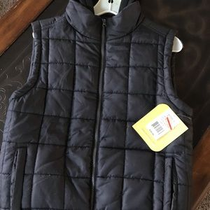 Vest with hoodie